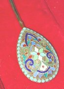 Imperial Russian 12 Enamel Spoons Faberge