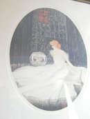 Deco Courcelles Print Lady and the Fish Bowl