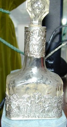 Augsburg Crystal and Silver Perfume Flask II