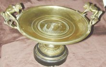 Napoleon IIl Gilt Bronze Egyptian Tazza Signed