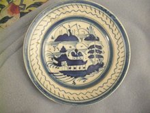 Early English Delft Plate in Chinese Style