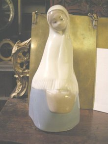 Rex by Lladro Girl with Basket
