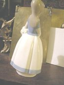 Rex by Lladro Girl with Flower Basket