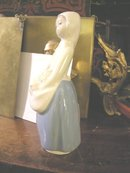Rex by Lladro Girl with Flowers in Apron