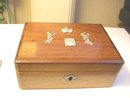 Faberge Wooden CigaretteBox -Wigstrom Gold