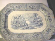 Early Stafforshire Canadian Scenes Platter