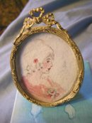 Miniature Portrait of a Lady on Card