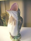 Vintage Majolica Jug in the Shape of a Fish