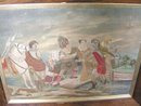 Antique Scottish Silk Embroidery Queen Mary