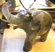 Imperial Russian Faberge Hard Stone Elephant