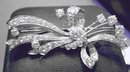 Diamond & Platinum Brooch: Almost 4 carats