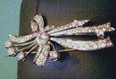 Diamond & Platinum Brooch: Almost 4 carats