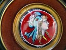 Magnificent Enamel Plaque: P. Seyer