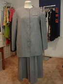 Vintage Gray Maternity Jumper Dress & Coat Size 10 by Lady in Waiting