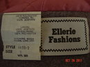 Vintage Ellerie Child's Size 5 Gray Wool Coat & Cap