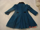 Vintage Rothschild Size 6 Dark Teal Blue Wool Coat & Cap