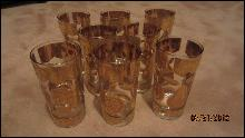 Set of 8 Culver Ltd. Florentine 12 oz. Flat Tumblers