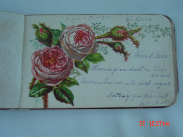 Lovely Victorian Autograph Album 1886 -