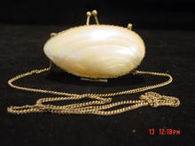 Antique Mother of Pearl Shell & Silver Change or Snuff Purse