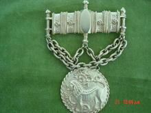 Large Bright Gold Les Bernard Inc. Brooch With Lion Medallion