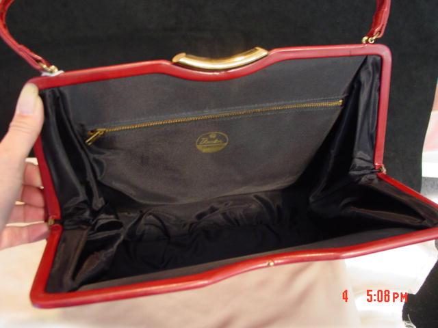 Burgundy Purse Handbag by Theodor California