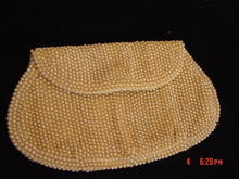 Vintage Miranda Japan Imitation Pearl Evening Clutch Purse