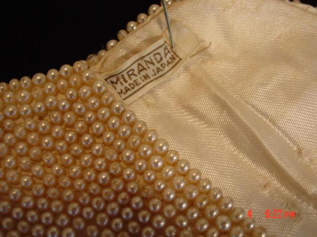 Vintage Miranda Japan Imitation Pearl Evening Clutch Purse