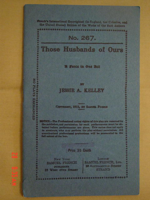 1913 Play Book No. 267
