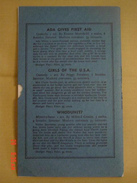 1913 Play Book No. 267