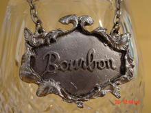1975 Metzke Pewter Bourbon Decanter Tag