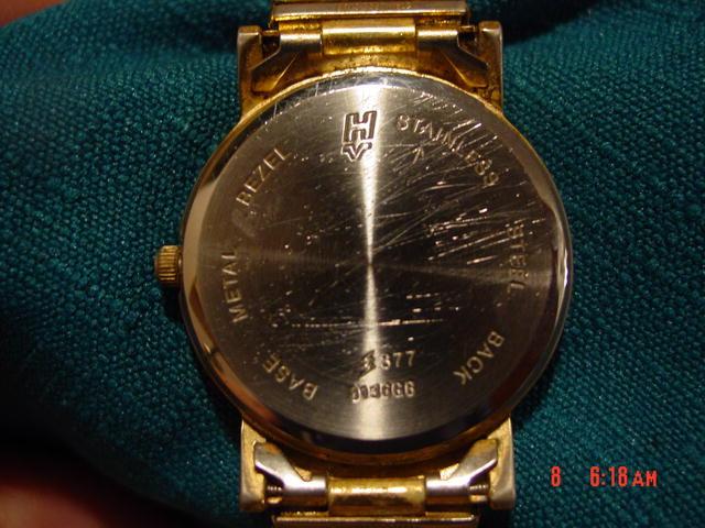 Men's Goldtone Helbros Invincible Quartz Wrist Watch