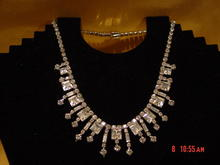 GORGEOUS Clear Rhinestone Necklace