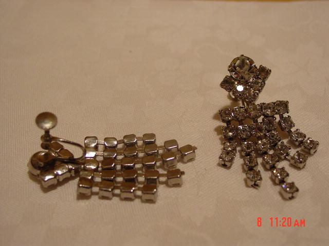 Cascading Clear Rhinestine Screwback Earrings