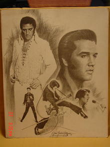 1977 Elvis Presley Litho by Glen Fortune Banse