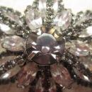 WEISS Vintage Smoky Topaz Star Brooch