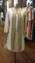 Sabina of India Lord & Taylor Raw Silk Cream Dress & Matching Coat