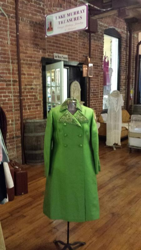 Harilela's Custom Tailors Lime Green Sheath Dress and Matching Coat