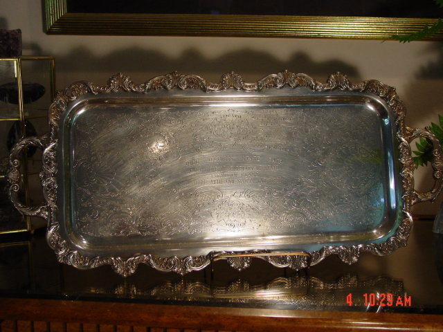 Poole Silverplate Old English Cocktail Tray