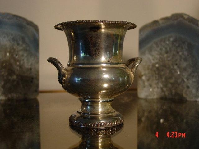 Crown Silver Electroplate Cigarette Urn
