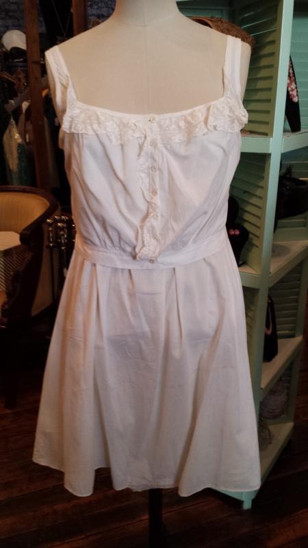 Antique White Cotton Camisole Petticoat