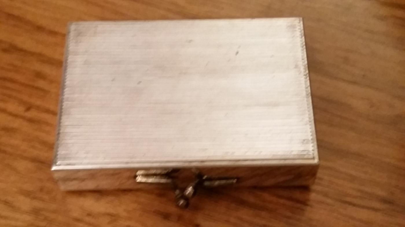 Silverplate 1915 European Coin Purse Box