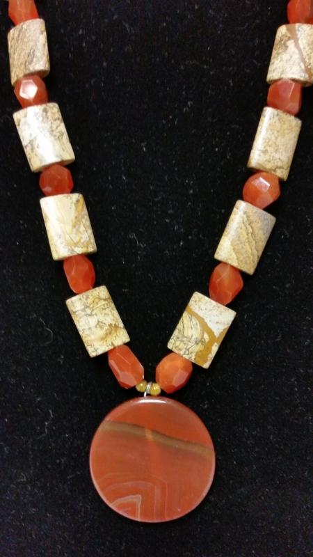 Carnelian and Jasper Necklace