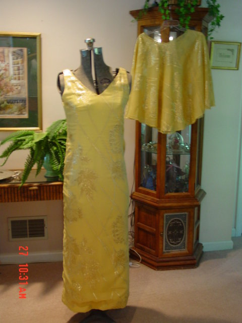 Yellow Cocktail Dress & Sheath by Shannon Rodgers for Jerry Silverman