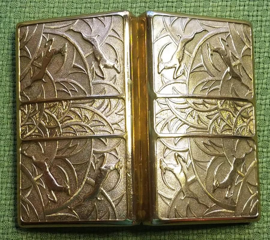 Elgin American Gold Gazelle Carryall Compact Dance Purse Necessaire Minaudière