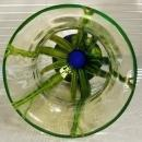 1920's Kralik Vaseline Glass Vase Bambus Decor