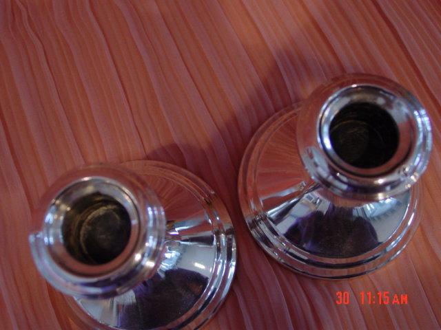 Pair of Gorham Puritan 838 Sterling Candleholders
