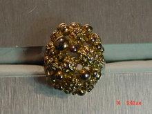 Vintage Adjustable Gold Nugget Cocktail Ring
