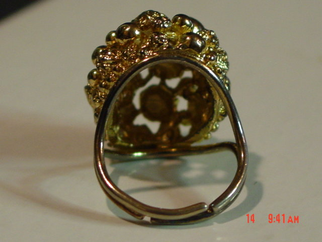 Vintage Adjustable Gold Nugget Cocktail Ring