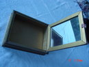 Gold Painted Wood Framed Rose Picture Jewelry Dresser Box
