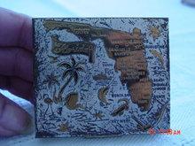 Vintage 50's Souvenir Florida Powder Compact
